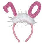 Number 70 Glittered Boppers with Marabou