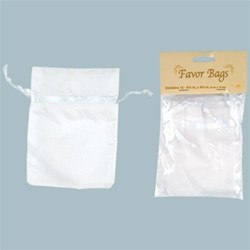 White Favor Bags