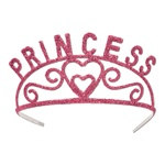 Pink Glittered Princess Tiara
