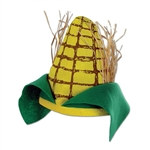 Plush Corn Cob Hat
