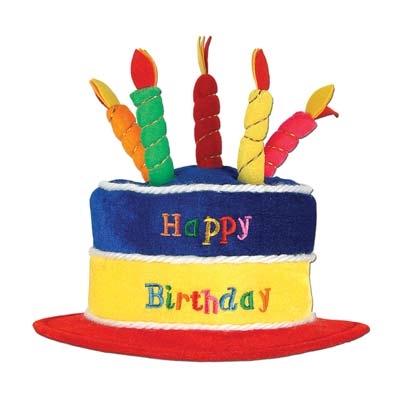 Crochet Birthday Cake Hat