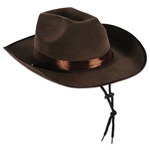Deluxe Brown Western Hat