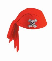 Red Pirate Scarf Hat