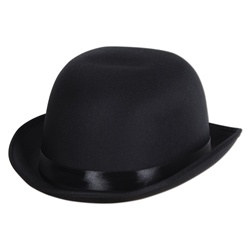 Black Satin Sleek Derby Hat