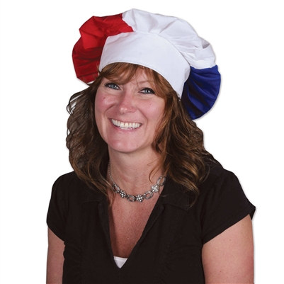 Red, White and Blue Oversized Chef's Hat