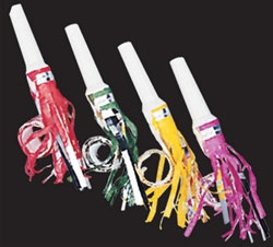 Fringed Party Blowouts (sold 100 per box)