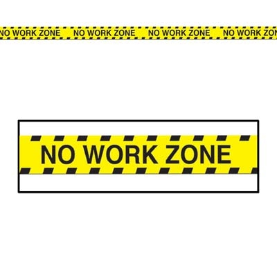 No Work Zone Party Tape Partycheap