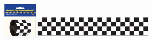 Checkered Flag Poly Tape Roll PartyCheap
