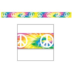 Tie-Dyed Peace Sign Party Tape