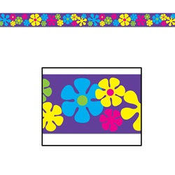 Retro Flowers Party Tape