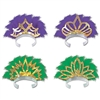Mardi Gras Feathered Tiaras (sold 25 per box)