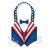 Red, White, and Blue Patriotic Plastic Vest