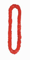 Red Soft Twist Poly Leis (sold 12 per box)