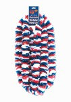 Red, White, and Blue Patriotic Poly Leis, 2 inches x 36 inches (4/pkg)