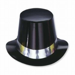 Black Hi-Hat with Silver Band (sold 25 per box)