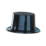 Black Plastic Topper Hat