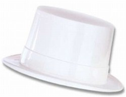 White Plastic Topper Hat