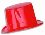 Red Plastic Topper Hat