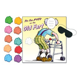 """Pin The Pfft"" Old Fart Game"
