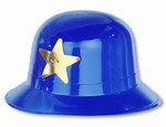 Blue Keystone Cop Hat