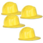Miniature Yellow Construction Helmets, 5 in (4/pkg)