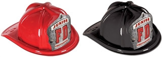 Junior Firefighter Hat - FD Silver Shield (Select Helmet Color)