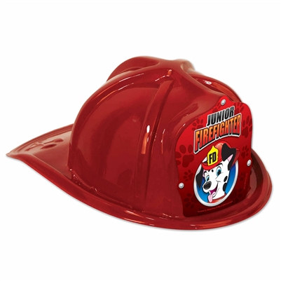 Junior Red Firefighter Hat (Dalmatian Red Shield)