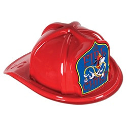 Junior Red Fire Chief Hat (Dalmatian Blue Shield)