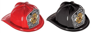 Junior Firefighter Hat with Silver FD Shield (Choose Color)