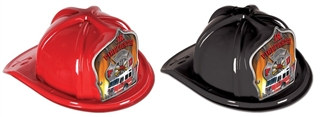 Junior Firefighter Hat with Fire Truck Shield (Choose Color)
