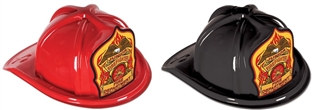 Junior Firefighter Hat with Eagle Shield (Choose Color)