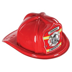 Red Firefighter Volunteer Hat (Red Shield)