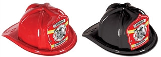 Firefighter Volunteer Hat with Red Shield (Choose Color)