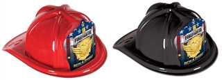 Junior Firefighter Hat with Gold Serve and Protect Shield (Choose Color)