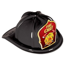 Black Fire Chief Hat (Red Shield)