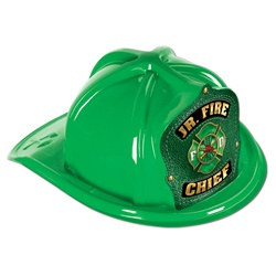 Green Junior Firefighter Hat (Green Shield)