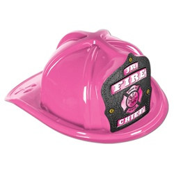 Junior Pink Fire Chief Hat (Pink Shield)