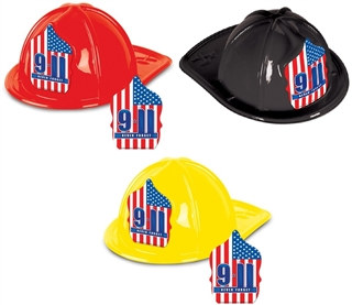 9/11 Plastic Fire Chief Hat (Choose Color)