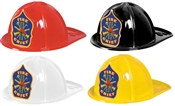 Plastic Fire Chief Hat (Choose Color)