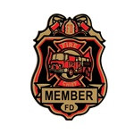 Fire Chief Badges (4/pkg)