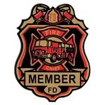 Fire Chief Plastic Badge w/Clip