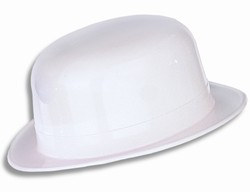 White Plastic Derby Hat