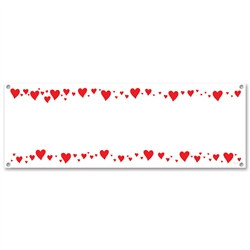 Blank Hearts Sign Banner