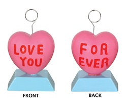 Candy Heart Polystone Photo/Balloon Holder