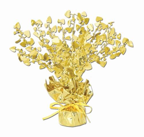 Gold heart gleam n burst centerpiece partycheap
