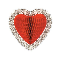Tissue Heart Decoration, 12in