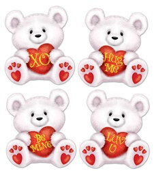 Mini Valentine Bear Cutouts