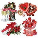 Valentine Sweetheart Cutouts (4/Pkg)