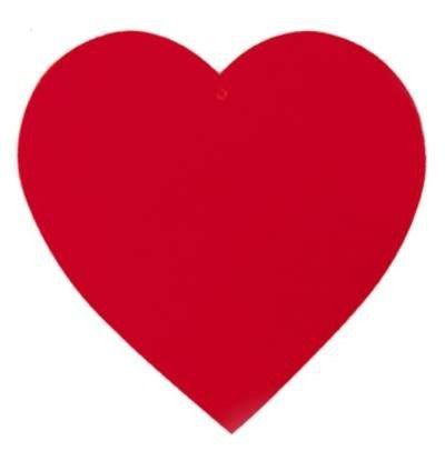 Red Heart Cutout 15 Inches PartyCheap