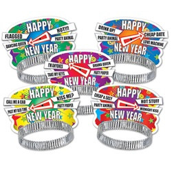 Party Personality New Year Tiaras (sold 50 per box)